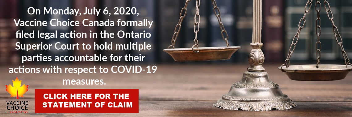 Press Release – Legal Challenge to COVID-19 Measures Filed In Ontario Superior Court